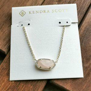 Kendra Scott Elisa Pendant Necklace In Rose Quartz